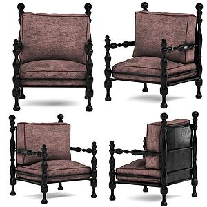 现代霸气休闲椅模型3d模型