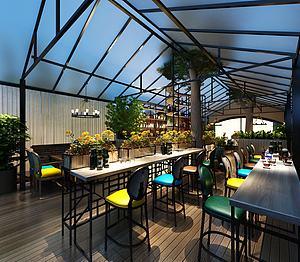 美式风格餐厅模型3d模型