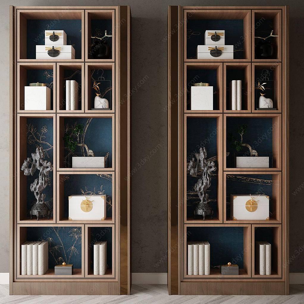 家具饰品组合书架
