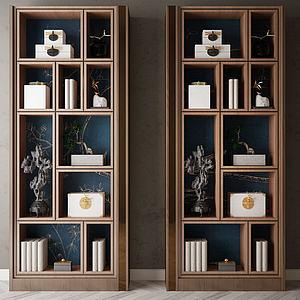 家具饰品组合书架3d模型