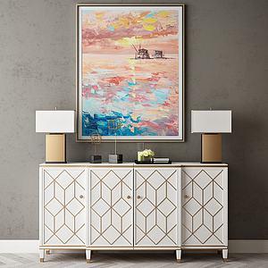 家具饰品组合玄关柜模型3d模型
