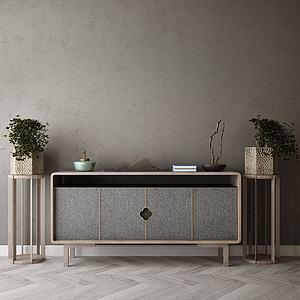 家具饰品组合玄关柜3d模型