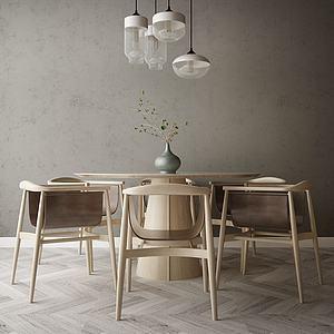 家具饰品组合餐厅3d模型