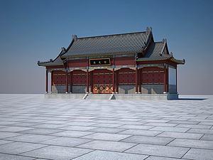 古建大殿模型3d模型