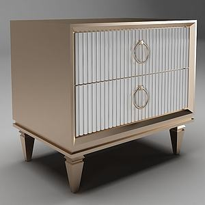 簡歐邊柜裝飾柜邊柜模型3d模型