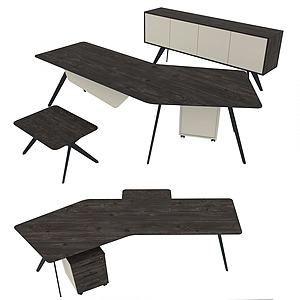 現代簡易辦公椅桌3d模型