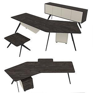 現代簡易辦公椅桌模型3d模型