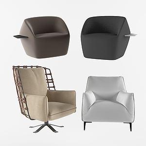 現代舒適休閑室內椅3d模型