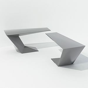 現代設計型簡約桌3d模型