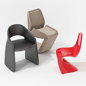 簡歐式休閑小單椅3d模型