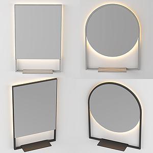 簡歐小鏡子3d模型