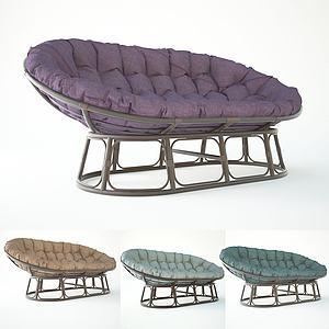 簡歐特休閑風格懶人椅3d模型