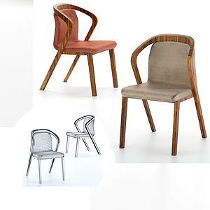 簡歐現代化休閑室內椅3d模型