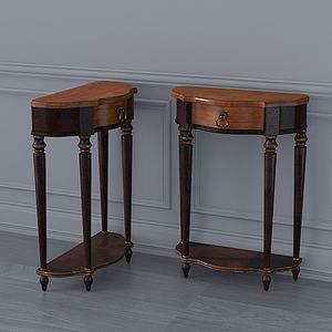 美式復古邊柜裝飾柜模型3d模型