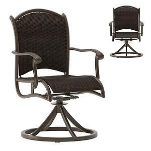 美式時尚辦公椅3d模型