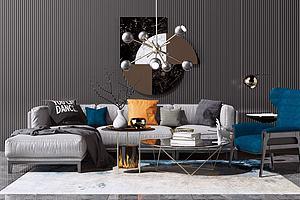 现代布艺沙发模型3d模型