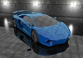 C4D跑车模型