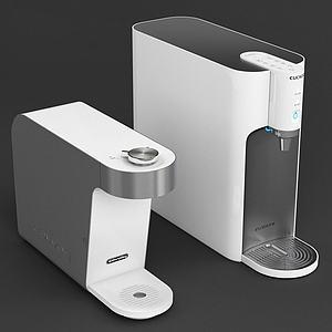 3d现代自动加热热水器模型