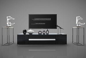 现代风格电视柜模型3d模型