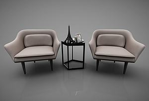现代风格休闲沙发模型3d模型