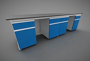 版式家具办公台模型3d模型