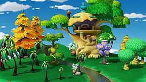 卡通游樂場游戲場景模型3d模型
