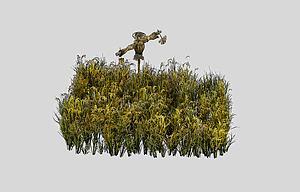 稻草人模型3d模型