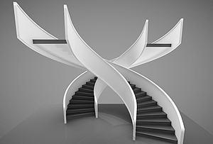 現代風格樓梯模型3d模型