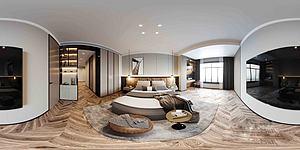 現代輕奢風格全景臥室模型3d模型