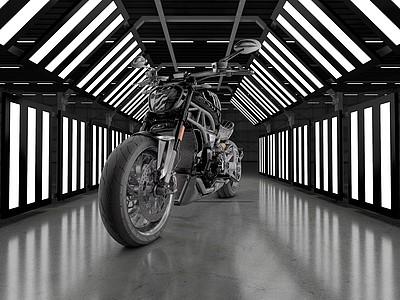 C4D杜卡迪摩托車模型