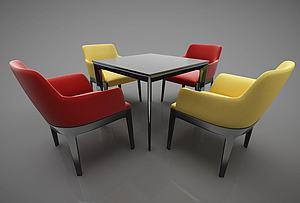 现代风格桌椅模型3d模型