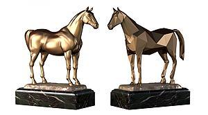 现代金马雕塑摆件饰品模型3d模型
