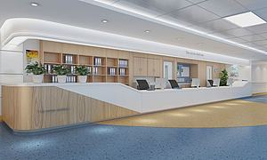現代風格護士站模型3d模型