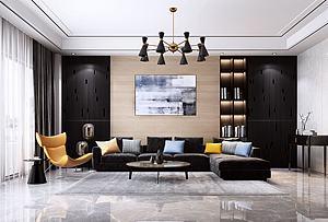 现代设计客厅模型3d模型