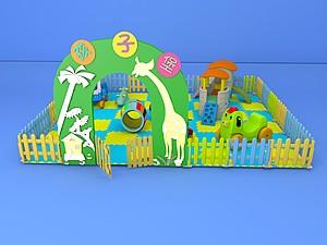兒童小滑梯模型3d模型