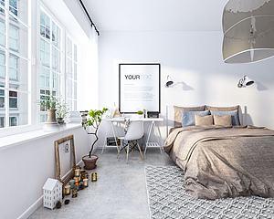 北欧卧室模型3d模型