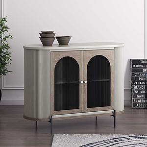 現代復古餐邊柜玄關柜3d模型