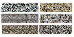 現代自然景觀石頭圍墻模型3d模型