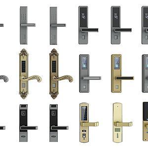 指纹锁3d模型