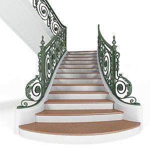 樓梯欄桿模型3d模型