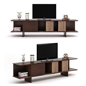 現代簡約木制電視柜3d模型