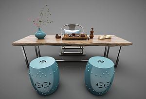 現代風格茶桌模型3d模型