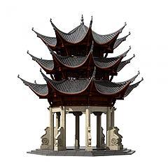 中式古建塔樓佛塔鐘樓3D模型