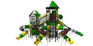 大型滑滑梯模型3d模型
