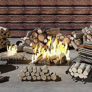 木頭3d模型