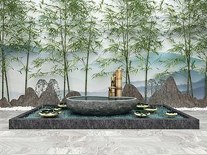 園林模型3d模型