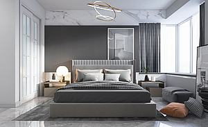 现代卧室模型3d模型
