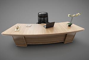 办以桌模型3d模型
