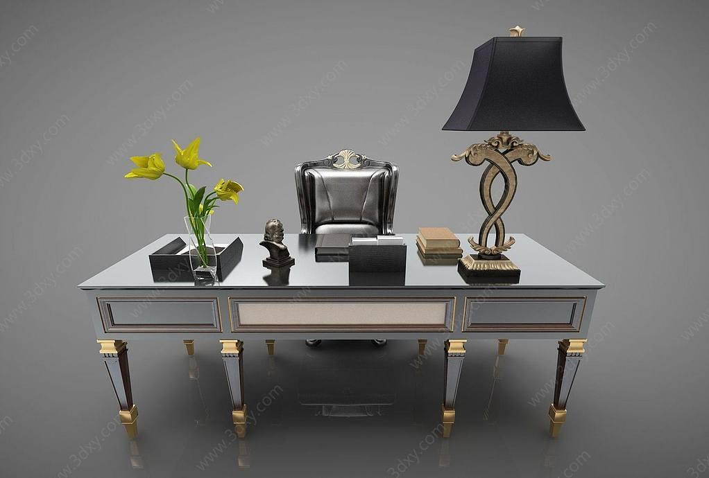现代风格办公桌椅