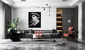 现代风格的客厅模型3d模型